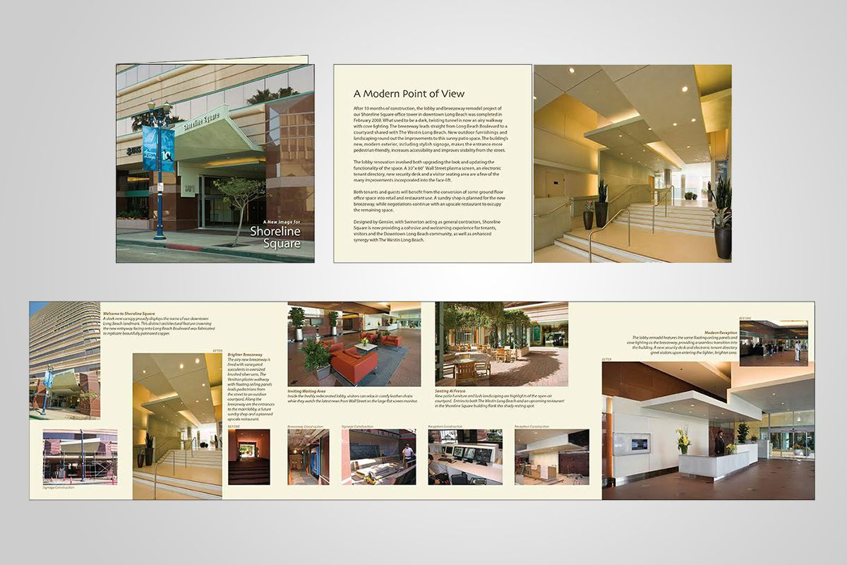 Professional brochure design orange county tri fold company creative modern for Commercial real estate brochure